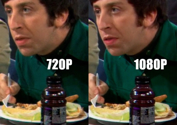 difference of 1080p to 720p conversion