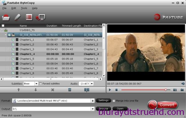 Encoding Blu-ray to TrueHD 7.1 MKV