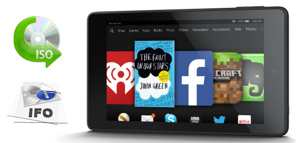 transfer DVD ISO/IFO movie to Kindle Fire HD 6