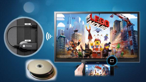 cast Blu-ray/DVD movies to Google Chromecast
