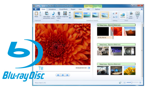 import Blu-ray to Windows Movie Maker