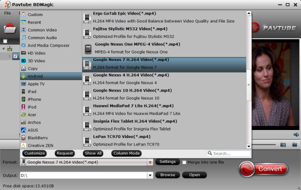 Nexus 9 video format