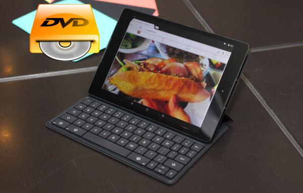 Nexus 9 tablet play DVD movie