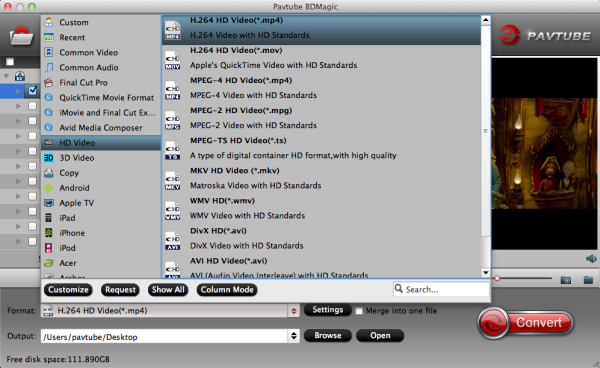 HD MP4 video format