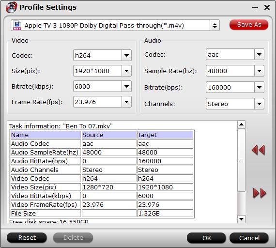 Apple TV Format Settings