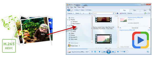 play H.265 video on Windows Media Player