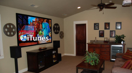 watch iTunes movies on a Home Theater Projector