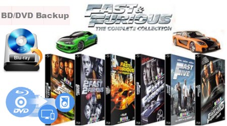 Rip, Copy and Backup Fast & Furious: 6-Movie Collection (Blu-ray+DVD