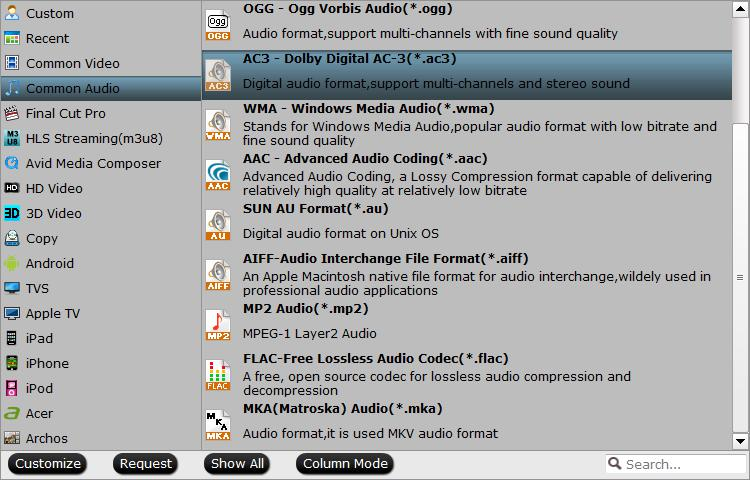 Output DVD to Dolby Digital AC3 with 5.1 surround sound
