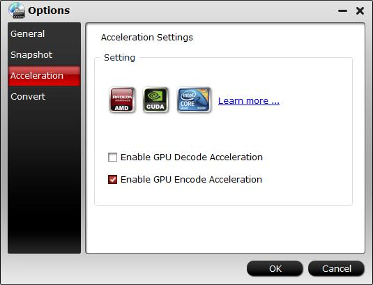 Enable GPU Encode Acceleration